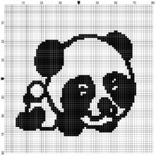 Panda Counted Cross Stitch Kit